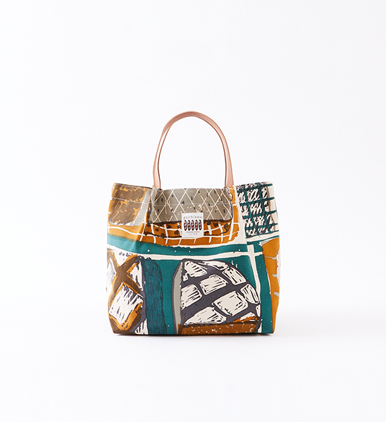 Canvas&leather tote bag
