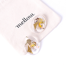 canvas earring (gold)